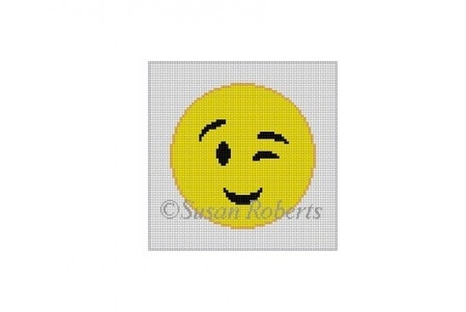 click here to view larger image of Winking Emoji (hand painted canvases)