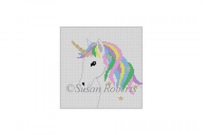 click here to view larger image of Rainbow Unicorn (hand painted canvases)
