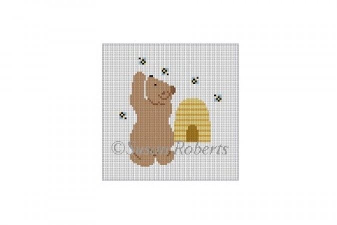 click here to view larger image of Honey Bee Bear (hand painted canvases)