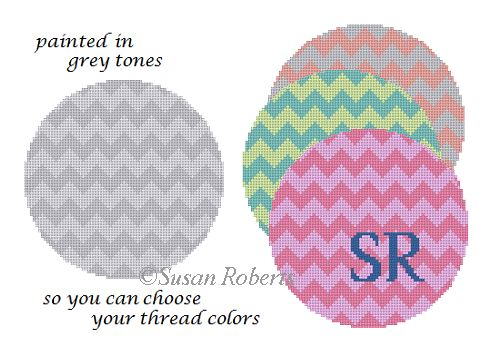 click here to view larger image of Zig Zag - 2 color (hand painted canvases)