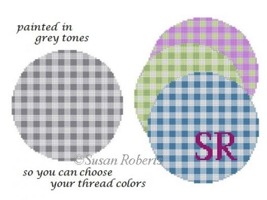 click here to view larger image of Gingham (hand painted canvases)