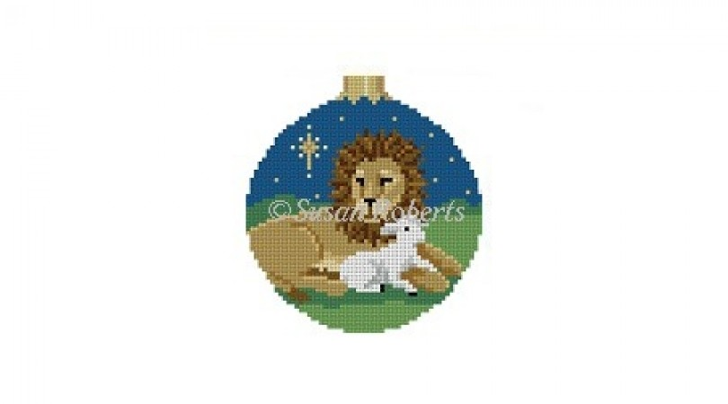 click here to view larger image of Lion and Lamb (hand painted canvases)
