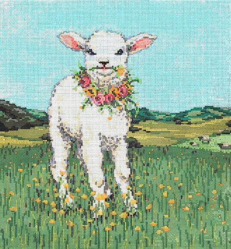 click here to view larger image of Lambie Pie (hand painted canvases)