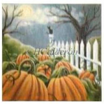 click here to view larger image of Midnight Pumpkin Patch (hand painted canvases)