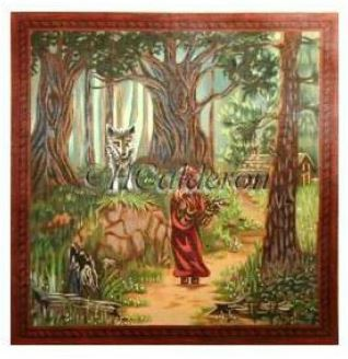click here to view larger image of Little Red Riding Hood (hand painted canvases)