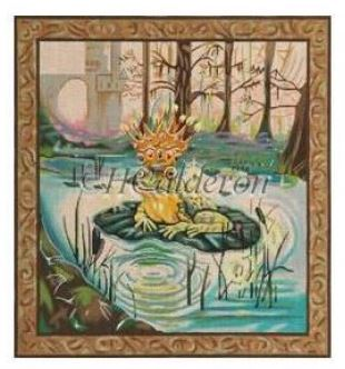 click here to view larger image of Frog Prince (hand painted canvases)