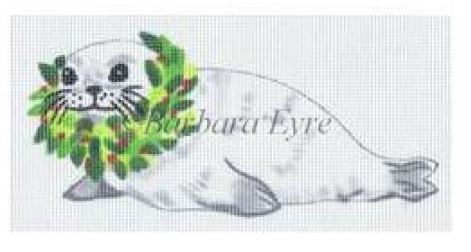 click here to view larger image of Baby White Seal Ornament (hand painted canvases)