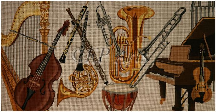 click here to view larger image of Orchestra Instruments (hand painted canvases)