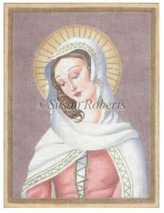 click here to view larger image of Our Lady of Sacred Heart (hand painted canvases)
