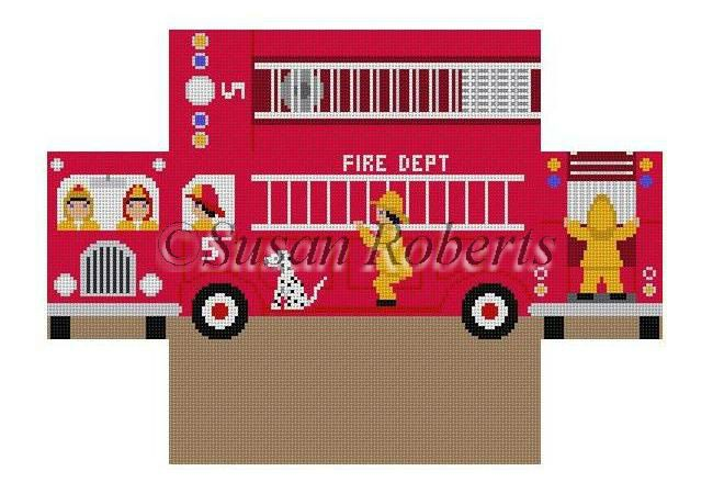 click here to view larger image of Firetruck (hand painted canvases)