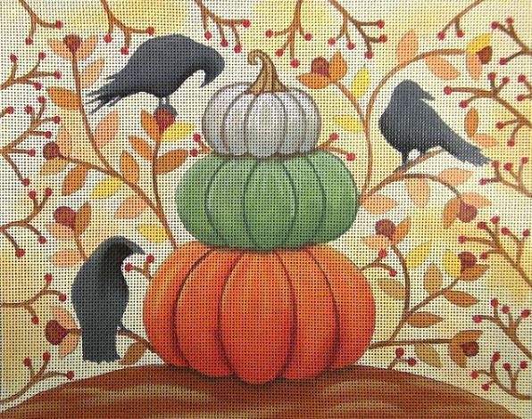 click here to view larger image of Harvest Crows (hand painted canvases)