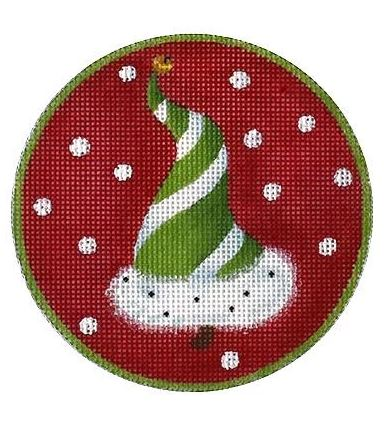 click here to view larger image of Christmas Tree Green Ornament (hand painted canvases)