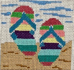 click here to view larger image of Flip Flops Insert (hand painted canvases)