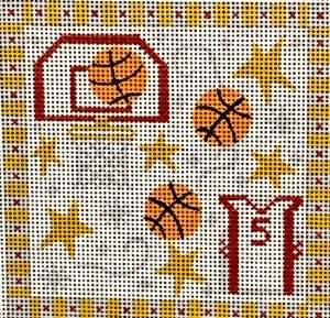 click here to view larger image of Basketball Square  (hand painted canvases)