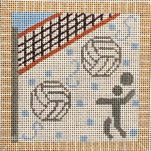 click here to view larger image of Volleyball Square  (hand painted canvases)