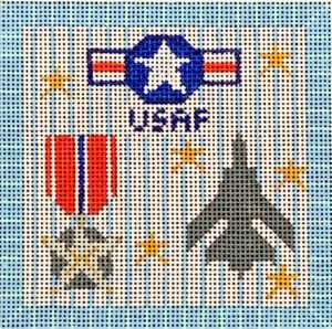 click here to view larger image of USAF Square  (hand painted canvases)