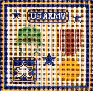 click here to view larger image of US Army Square  (hand painted canvases)