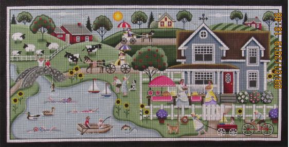 click here to view larger image of Summer Village (hand painted canvases)