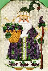 click here to view larger image of Wine Country Santa (hand painted canvases)