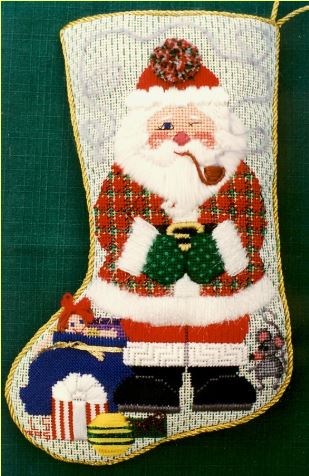 click here to view larger image of Winking Eye Santa (hand painted canvases)