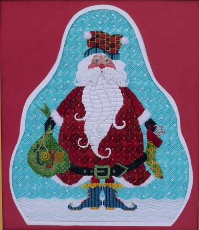 click here to view larger image of Jolly Fat Santa, The (hand painted canvases)