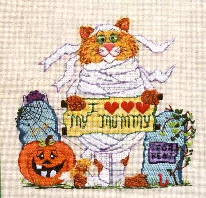 click here to view larger image of Hector the Mummy Cat (hand painted canvases)