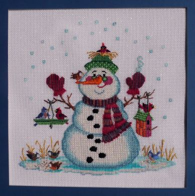 click here to view larger image of Snow Bird Snowman (hand painted canvases)