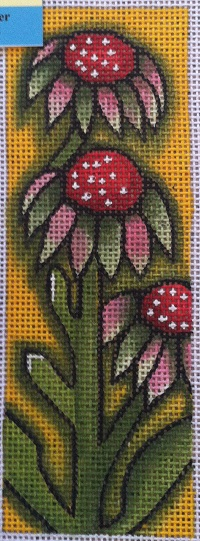 click here to view larger image of Cone Flower Bookmark (hand painted canvases)