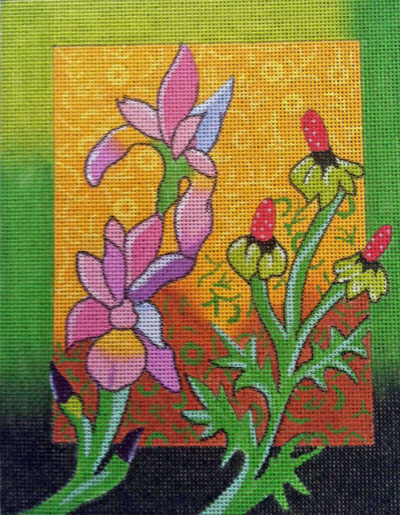 click here to view larger image of Wild Flowers 1 (hand painted canvases)