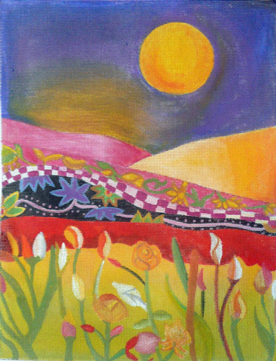 click here to view larger image of Spring Moon (hand painted canvases)