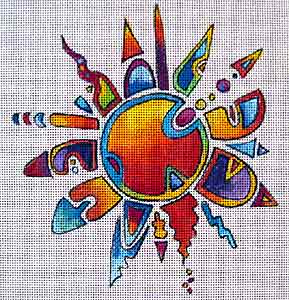 click here to view larger image of Crazy Sun (hand painted canvases)