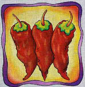 click here to view larger image of Chilis Small (hand painted canvases)
