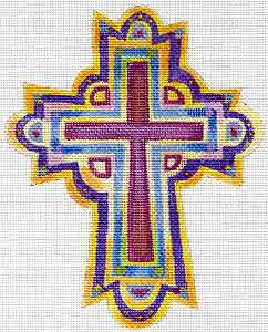 click here to view larger image of Funky Cross 5 (hand painted canvases)