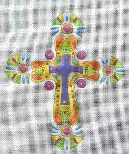 click here to view larger image of Funky Cross 4 (hand painted canvases)