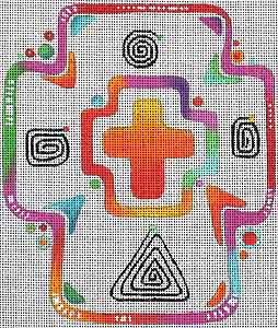 click here to view larger image of Funky Cross 2 (hand painted canvases)