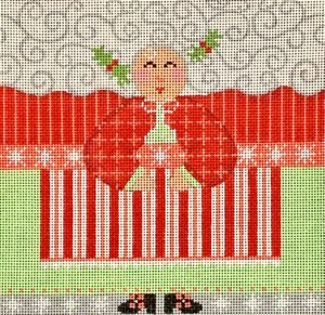 click here to view larger image of Mrs Santa Roll Up - Medium  (hand painted canvases)