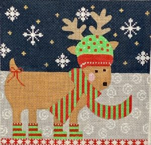click here to view larger image of Reindeer Roll Up - Medium  (hand painted canvases)