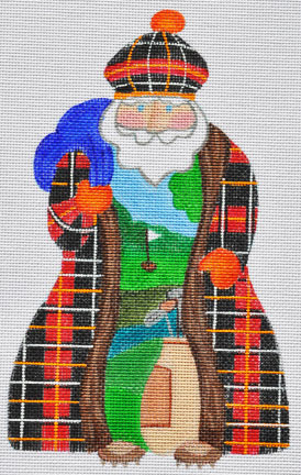 click here to view larger image of Golf Santa (hand painted canvases)