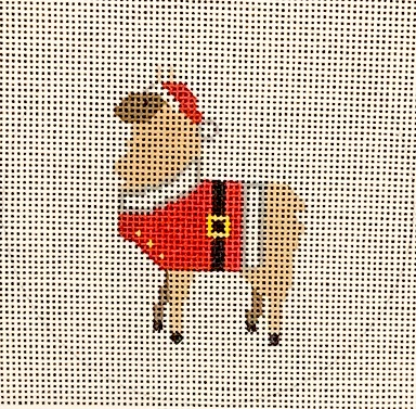 click here to view larger image of Llama Santa (hand painted canvases)