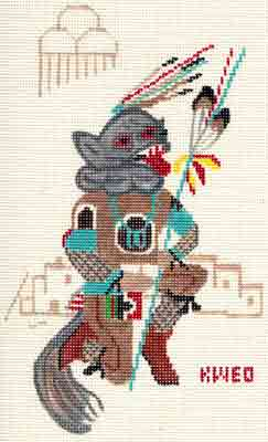 click here to view larger image of Kweo Kachina (hand painted canvases)