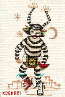 click here to view larger image of Koshari Kachina (hand painted canvases)
