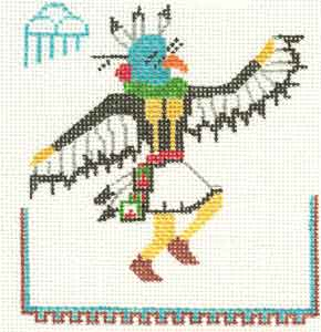 click here to view larger image of Eagle Kachina (hand painted canvases)