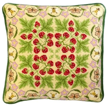 click here to view larger image of Strawberry Patch, The (needlepoint kits)