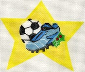 click here to view larger image of Soccer Shoe Super Star (hand painted canvases)