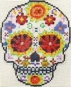 click here to view larger image of Day of the Dead Skull 1 (hand painted canvases)