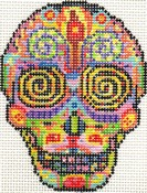 click here to view larger image of Day of the Dead Skull 2 (hand painted canvases)