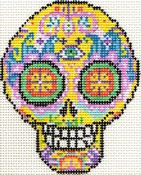 click here to view larger image of Day of the Dead Skull 4 (hand painted canvases)