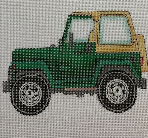 click here to view larger image of Hard Top Jeep (hand painted canvases)