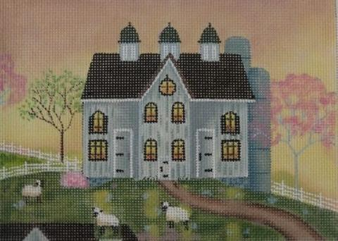 click here to view larger image of Belmont Barn (hand painted canvases)