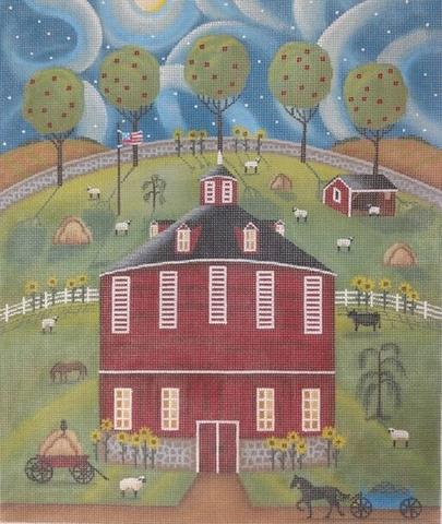 click here to view larger image of PA Round Barn (hand painted canvases)